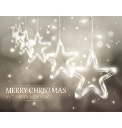Christmas background of de-focused lights with vector