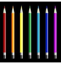 color pencils set vector image vector image