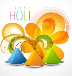 Colorful holi festival vector