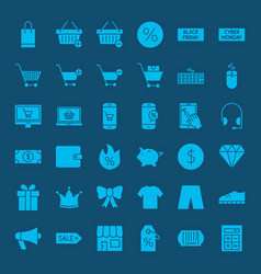 Cyber monday glyph web icons vector