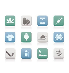 Drug icons vector