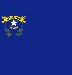 Flag of nevada usa vector