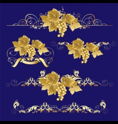 golden grapes vector image vector image