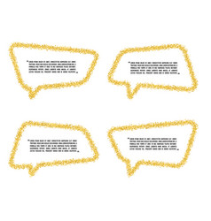 golden sand speech bubble icon for text quote vector image vector image