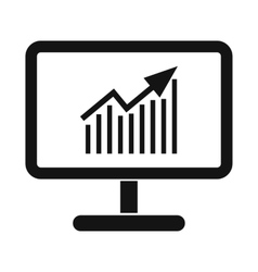 Graph on the computer monitor vector image