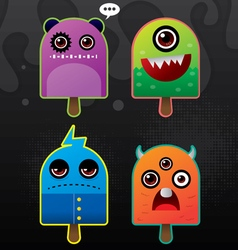 ice cream monsters vector image