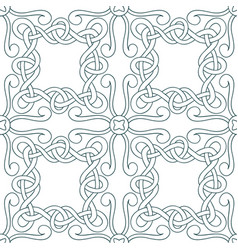 interwoven lines seamless pattern vector image vector image