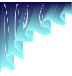 light blue curtain vector image