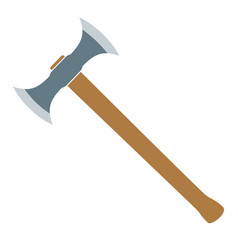 Medieval battle axe vector