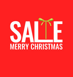minimalistic poster christmas sale and discounts vector image vector image
