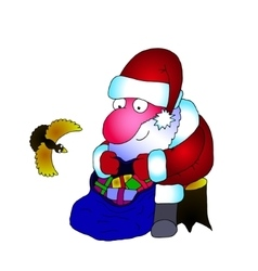painted a picture of Santa Claus vector image vector image