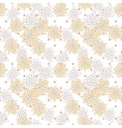 Retro chic flower pattern on fine polka dot vector image vector image