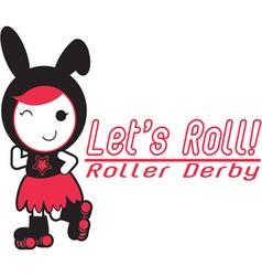 Roller derby - lets roll vector