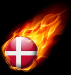 Round glossy icon of denmark vector image vector image