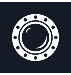 Round Ship Porthole Isolated on Black Background vector image vector image