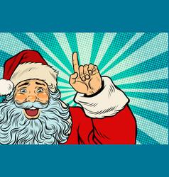 santa claus christmas character shows up vector image vector image