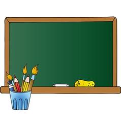 School Chalkboard And Pencil Cup vector image vector image