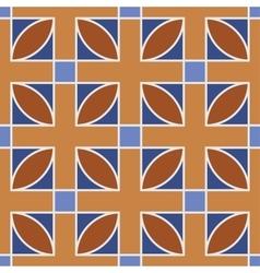 Seamless geometric pattern Brown vector image