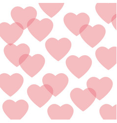 Seamless pattern featuring repeating hearts vector