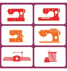 Sewing machines vector