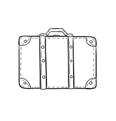 sketch of the suitcase vector image vector image