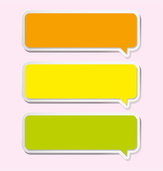 three labels design in yellow and orange vector image