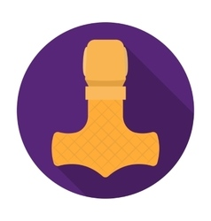 Viking god hammer icon in flat style isolated on vector image vector image