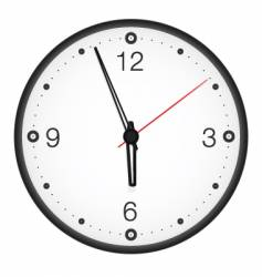 wall clock vector image
