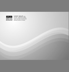 wave gray color abstract background with copy vector image vector image