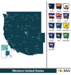 Western united states vector