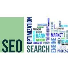 word cloud seo vector image