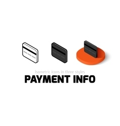 Payment info icon in different style vector