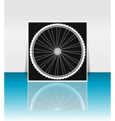 Bike wheel - flyer or cover design vector image