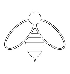 Bee the black color icon vector