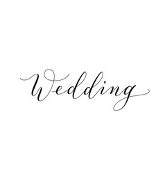 Wedding text hand written custom calligraphy vector