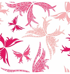 Romantic butterfly seamless pattern vector