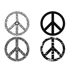 Black peace symbol vector