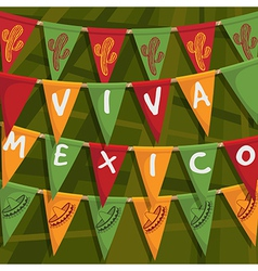 mexican bunting decoration vector image