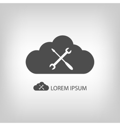 Grey cloud with settings sign vector