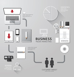 Business infographic corporate identity set design vector