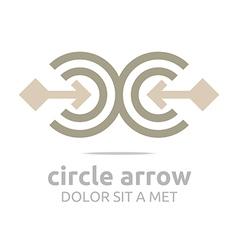 Logo design letter c arrow brown icon symbol vector