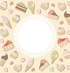 Sweets frame vector