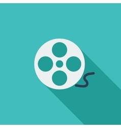 Icon reel of film vector