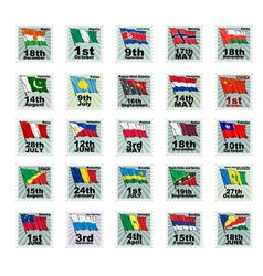 Set of national stamps 05 vector