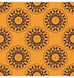 Symmetric seamless wallpaper pattern based on vector