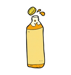 Comic cartoon juice bottle vector