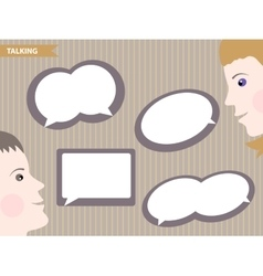 Set of speech bubbles blank templates vector