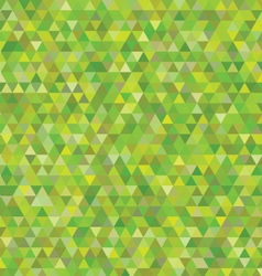Green triangles pattern vector