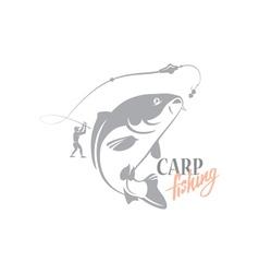carp fishing vector image