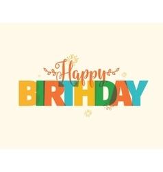 Happy Birthday typography design vector image
